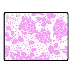 Floral Wallpaper Pink Double Sided Fleece Blanket (Small)