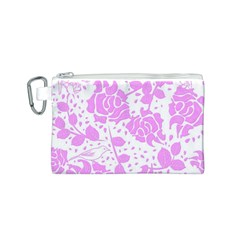Floral Wallpaper Pink Canvas Cosmetic Bag (s)