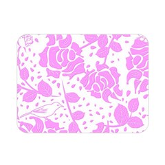 Floral Wallpaper Pink Double Sided Flano Blanket (mini)