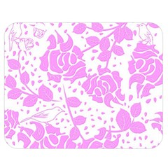 Floral Wallpaper Pink Double Sided Flano Blanket (Medium)