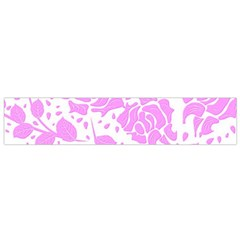 Floral Wallpaper Pink Flano Scarf (Small)
