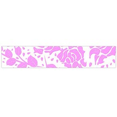 Floral Wallpaper Pink Flano Scarf (Large)