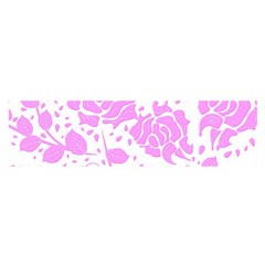 Floral Wallpaper Pink Satin Scarf (Oblong)