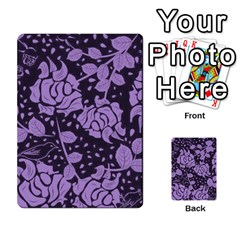Floral Wallpaper Purple Multi-purpose Cards (Rectangle)