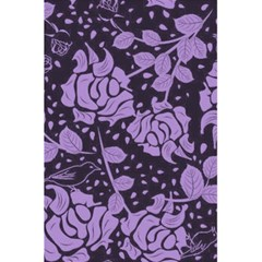 Floral Wallpaper Purple 5 5  X 8 5  Notebooks