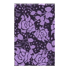 Floral Wallpaper Purple Shower Curtain 48  X 72  (small)
