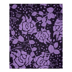 Floral Wallpaper Purple Shower Curtain 60  x 72  (Medium)
