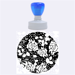 Floral Wallpaper Purple Rubber Round Stamps (large)