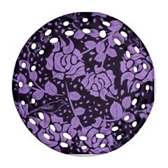 Floral Wallpaper Purple Ornament (round Filigree)