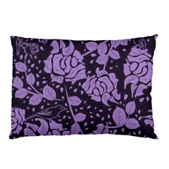Floral Wallpaper Purple Pillow Cases (Two Sides)