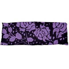 Floral Wallpaper Purple Body Pillow Cases Dakimakura (Two Sides)