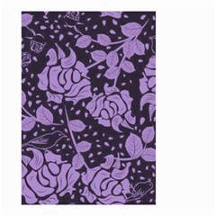 Floral Wallpaper Purple Small Garden Flag (Two Sides)