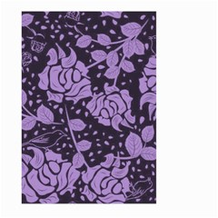 Floral Wallpaper Purple Large Garden Flag (Two Sides)