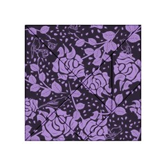 Floral Wallpaper Purple Acrylic Tangram Puzzle (4  x 4 )