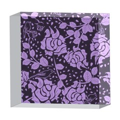Floral Wallpaper Purple 5  x 5  Acrylic Photo Blocks
