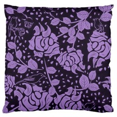 Floral Wallpaper Purple Standard Flano Cushion Cases (One Side)