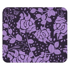 Floral Wallpaper Purple Double Sided Flano Blanket (Small)