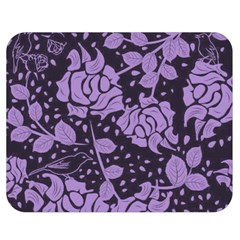 Floral Wallpaper Purple Double Sided Flano Blanket (medium)