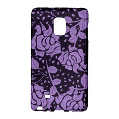 Floral Wallpaper Purple Galaxy Note Edge