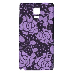 Floral Wallpaper Purple Galaxy Note 4 Back Case