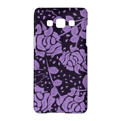 Floral Wallpaper Purple Samsung Galaxy A5 Hardshell Case