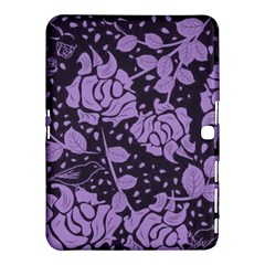 Floral Wallpaper Purple Samsung Galaxy Tab 4 (10 1 ) Hardshell Case
