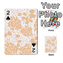 Floral Wallpaper Peach Playing Cards 54 Designs