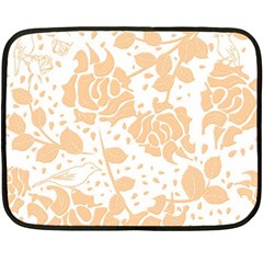 Floral Wallpaper Peach Fleece Blanket (Mini)