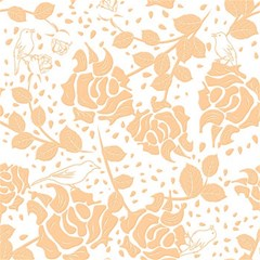 Floral Wallpaper Peach Magic Photo Cubes