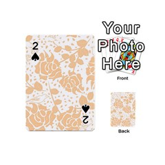Floral Wallpaper Peach Playing Cards 54 (mini)