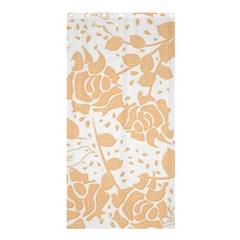 Floral Wallpaper Peach Shower Curtain 36  X 72  (stall)