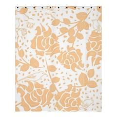 Floral Wallpaper Peach Shower Curtain 60  X 72  (medium)