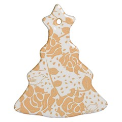 Floral Wallpaper Peach Ornament (Christmas Tree)