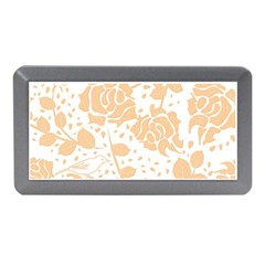 Floral Wallpaper Peach Memory Card Reader (Mini)