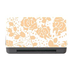 Floral Wallpaper Peach Memory Card Reader with CF