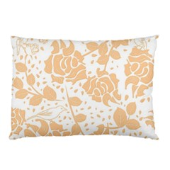 Floral Wallpaper Peach Pillow Cases (Two Sides)