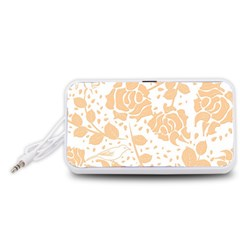 Floral Wallpaper Peach Portable Speaker (white)