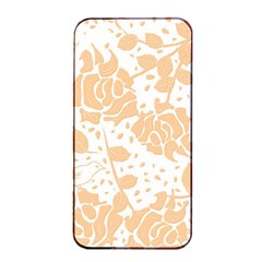 Floral Wallpaper Peach Apple Iphone 4/4s Seamless Case (black)