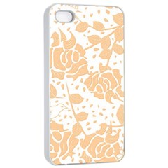 Floral Wallpaper Peach Apple iPhone 4/4s Seamless Case (White)
