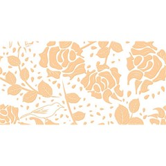 Floral Wallpaper Peach YOU ARE INVITED 3D Greeting Card (8x4)
