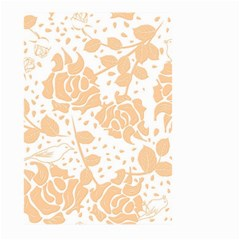 Floral Wallpaper Peach Large Garden Flag (Two Sides)