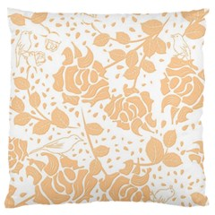 Floral Wallpaper Peach Large Flano Cushion Cases (Two Sides)