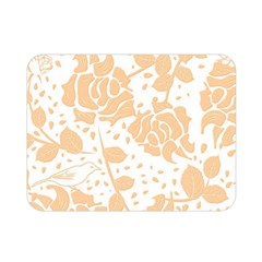 Floral Wallpaper Peach Double Sided Flano Blanket (mini)