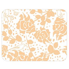 Floral Wallpaper Peach Double Sided Flano Blanket (medium)