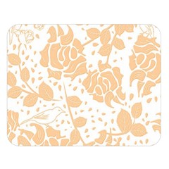 Floral Wallpaper Peach Double Sided Flano Blanket (Large)