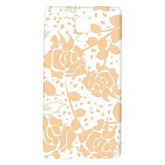 Floral Wallpaper Peach Galaxy Note 4 Back Case