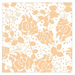 Floral Wallpaper Peach Large Satin Scarf (Square)