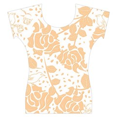 Floral Wallpaper Peach Women s Cap Sleeve Top
