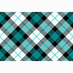 Smart Plaid Teal Collage 12  X 18