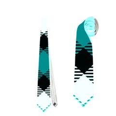 Smart Plaid Teal Neckties (two Side)